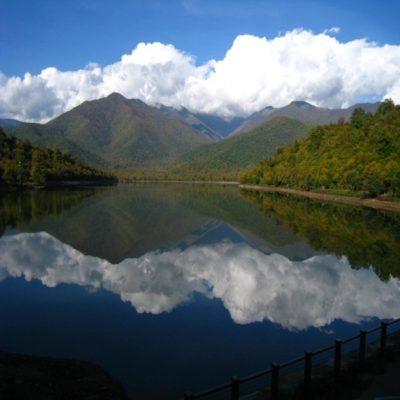 Вид на озеро Кварели
