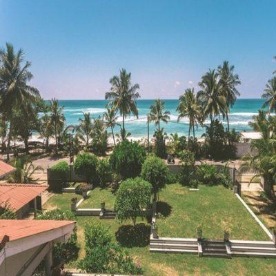 Вид с террасы виллы серфинг Шри Ланка