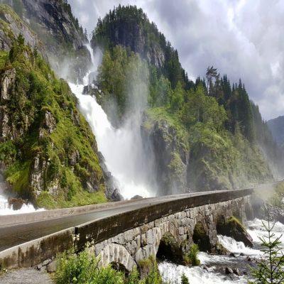 Водопад Лотефосс Норвегия