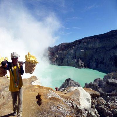 Вулкан Иджен остров Ява1