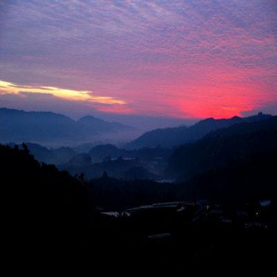 Закат в Камерон Хайлендз Малайзия