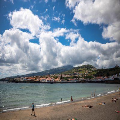 Пляж в Понта-Делгада Азоры Азорские острова Португалия