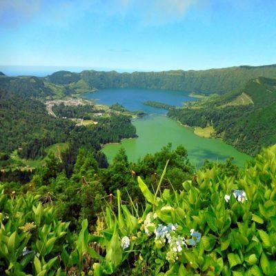 Сети-Сидадиш - Голубое и Зеленое озера Азоры Азорские острова Португалия