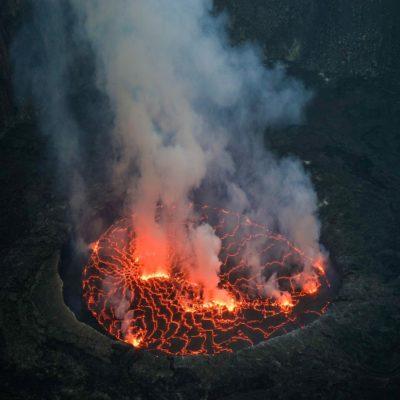 Жерло вулкана Ньирагонго Конго