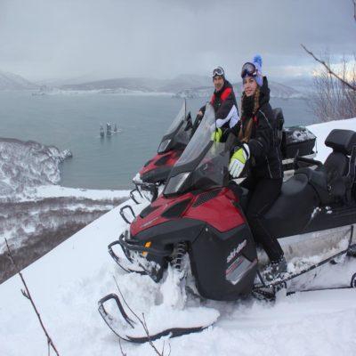 Катание на снегоходах Камчатка