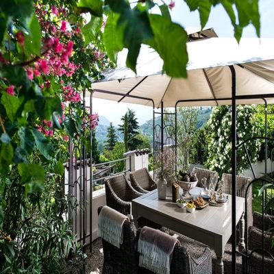 Терраса наших апартаментов Тироль Италия