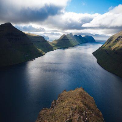 Вид с горы Клаккур Фарерские острова