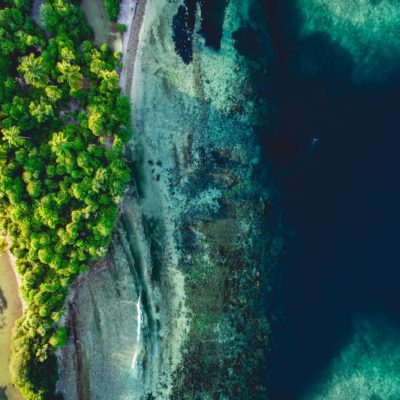 Риф вид сверху Мальдивы