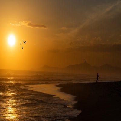 Закат в Рио-де-Жанейро Бразилия