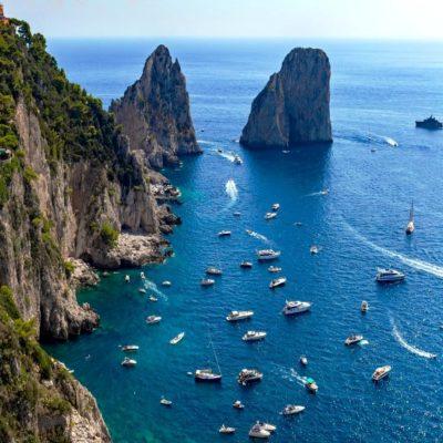 Капри Италия яхтинг