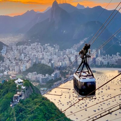 Подъемник на Сахарную Голову Рио-де-Жанейро Бразилия