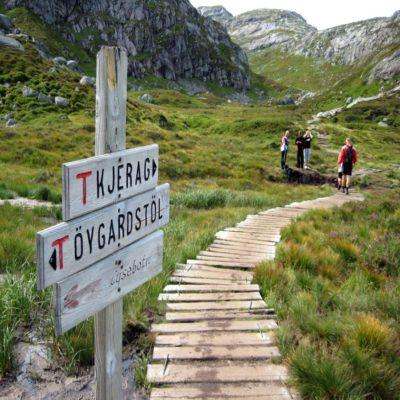 Подъем к плато Кьераг Норвегия