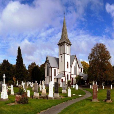 Церковь в Крайстчерче Новая Зеландия