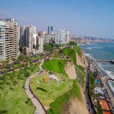 Район Мирафлорес в Лиме Перу