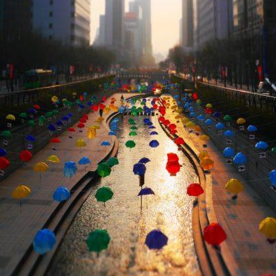 Ручей Чонгечхон Сеул Корея
