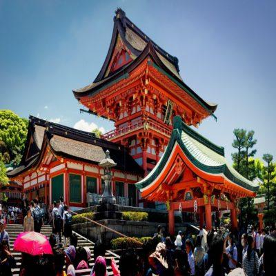 Храм Тысячи Ворот Киото Япония