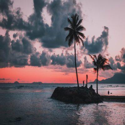 Карибский закат Гваделупа
