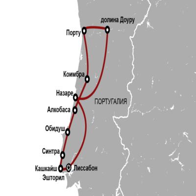 Карта Португалия на св Мартина