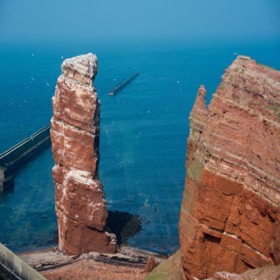 Скала Длинная Анна на острове Гельголанд Германия