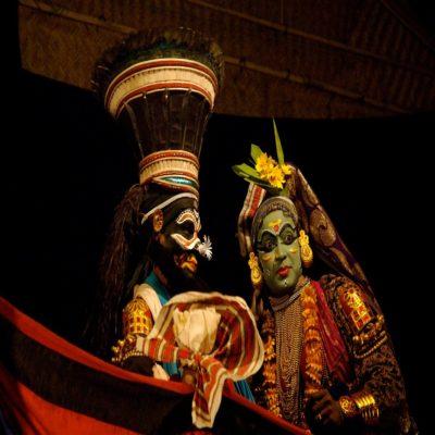 Театр Катхакали Кочин Керала Индия