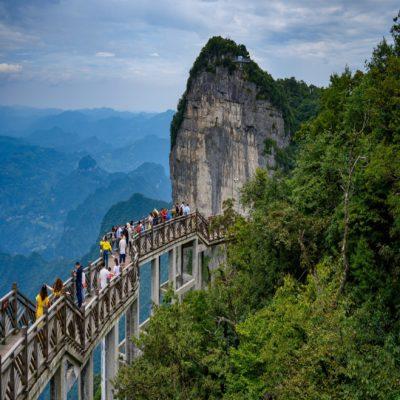 Тропа страха на горе Тяньмэньшань Китай