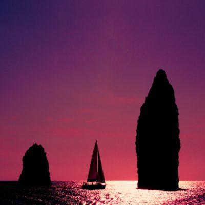 Закат Липарские острова Италия