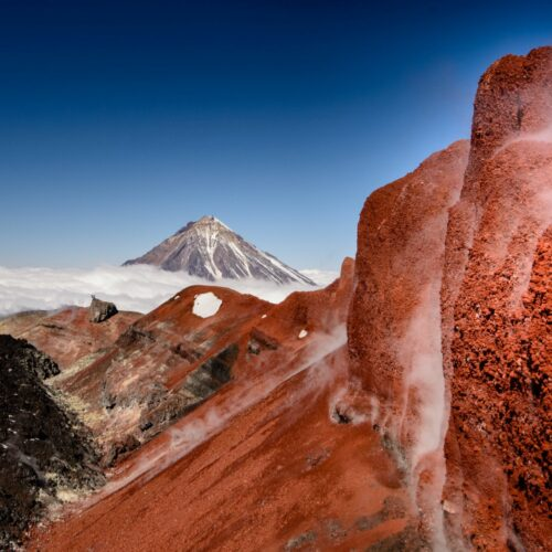 Кратер вулкана Авачинский Камчатка Россия