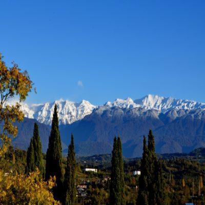 Снежные вершины Абхазия