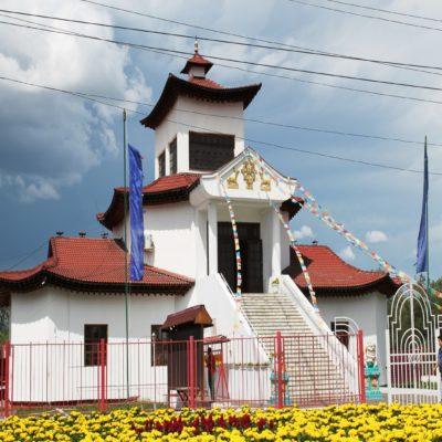 Буддийский монастырь в Кызыле Тыва Россия