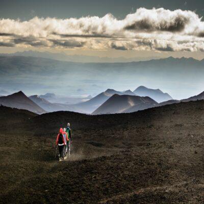 Лунная вулканическая пустыня Толбачик Камчатка Россия