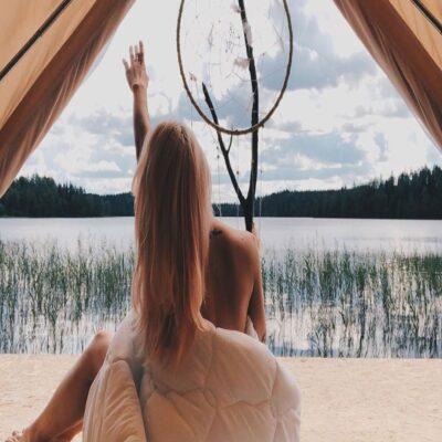 Вид из шатра Карелия Россия