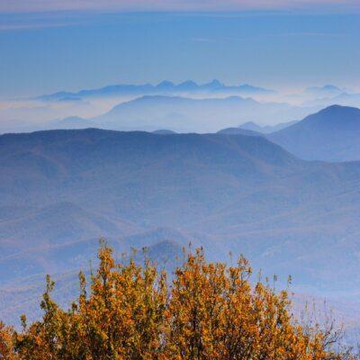 Вид на Кавказский хребет с горы Собер-Баш Краснодарский край Россия