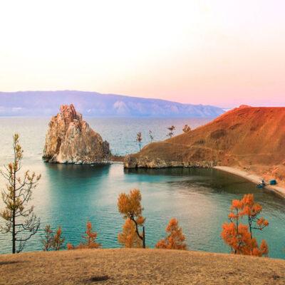 Осенний остров Ольхон Россия
