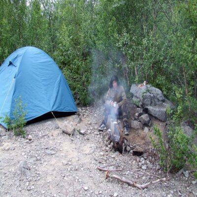 Палаточный лагерь Хибины Россия