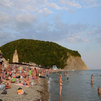 Пляж Архипо-Осиповки Краснодарский край Россия