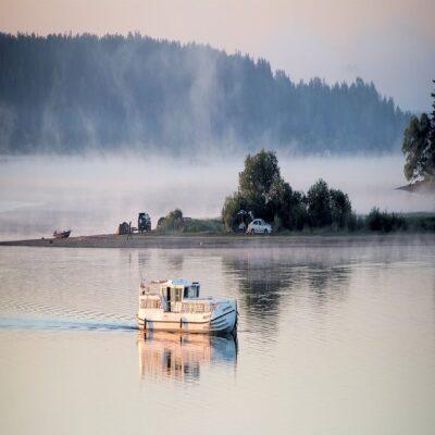 Река Волга в Мышкине Золотое кольцо России