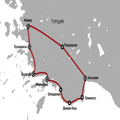 Турция автопробег карта