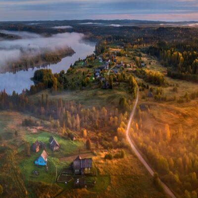Вепсская деревня Веспы Ленинградская область Россия