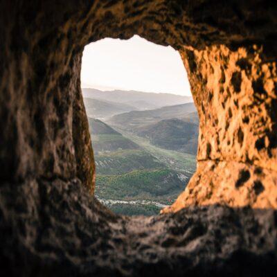 Вид из окон наших «номеров» Тепе-Кермен Крым Россия