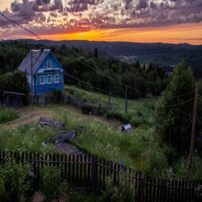 Закат Веспы Ленинградская область Россия
