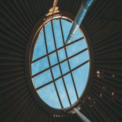 Небо из окна юрты Тыва
