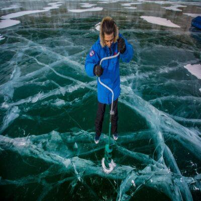 Проверка толщины первого льда