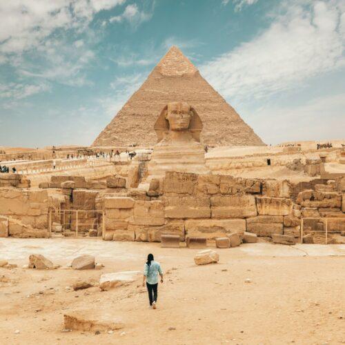 Великие пирамиды и Сфинкс в Гизе Египет