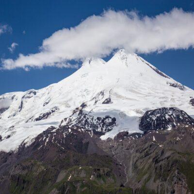 Вид на Эльбрус с горы Чегет КМВ Кавказские Минеральные Воды