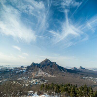 Гора Бештау над Пятигорском КМВ Кавказские Минеральные Воды