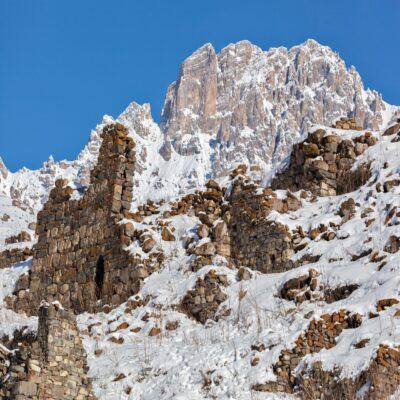 Древний город Галиат в Дигорском ущелье Северная Осетия