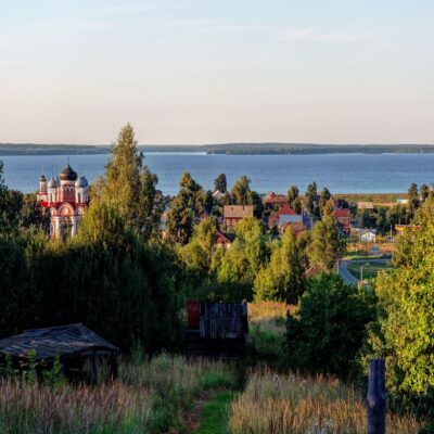 Козьмодемьянск на берегу Волги Марий Эл