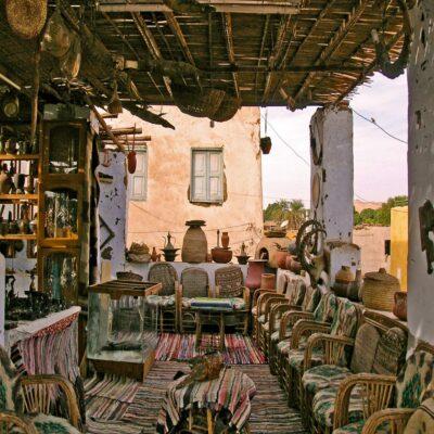 Нубийская деревня на острове Элефантина Асуан Египет