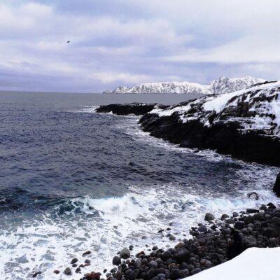 Пляж каменных великанов Северный Ледовитый океан Териберка Мурманск