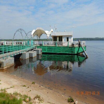 Речной вокзал в Мариинском Посаде Волга Чувашия